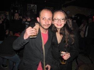 """Con mi editora, Sandra Araya, alias """"La Tiranosauria"""""""