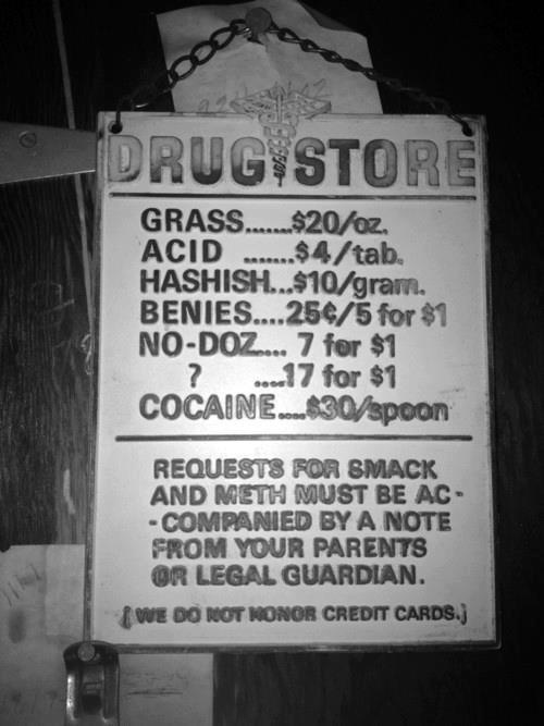 Anuncio en las afueras de una farmacia, EEUU, 1921