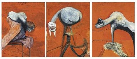 Tres estudios de figuras al pie de una crucifixión