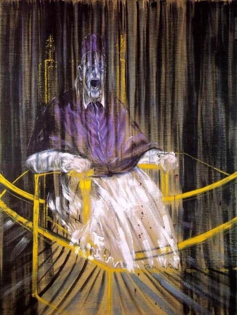 Estudio después del retrato de Velázquez del Papa Inocencio X