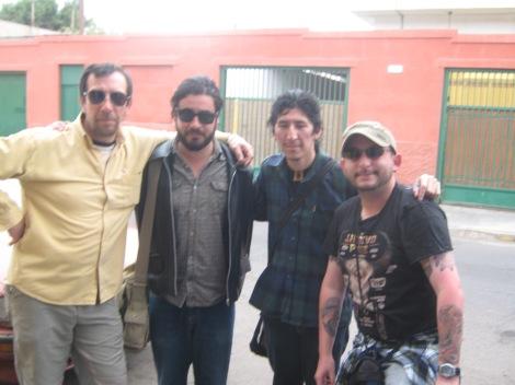 Con Lord Harry, Malebrán y Roberto, buen personal.