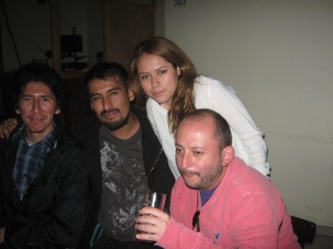 Roberto, Kreit, Anahí y yo