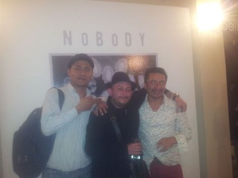 Con Eddy Paucar y el Licenciado Wilson Paccha... si así de feos somos sobrios,no se diga ebrios...