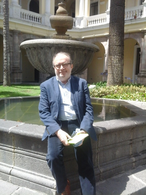 Manuel Borrás en su visita a Quito.