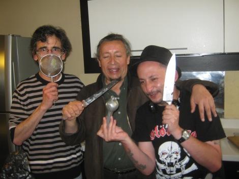 Preparando ceviche con Adolfo y Huilo Ruales