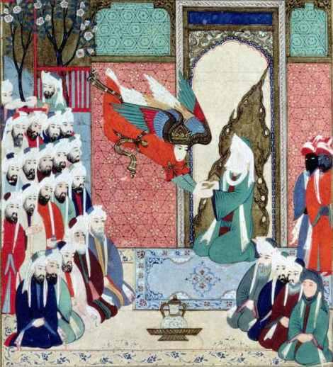 Representación islámica del Arcángel Gabriel, Gibreel, personaje clave dentro del Corán.