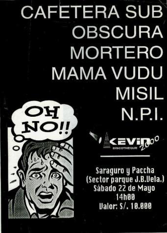 Afiche concierto en Ambato.